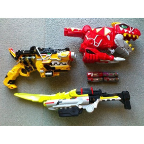 Power Ranger - Kyoryuger Dino Charge Lote Armas E Morfador