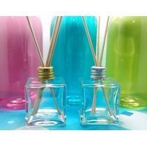 20 Kits Difusor 50 Ml Vidro Cubo + Líquido Aromatizador