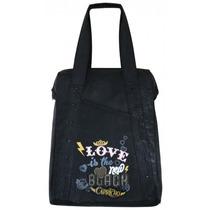 Bolsa Kit Tote Bag Preta Tilibra Capricho C/ 1 Caderno 1/4