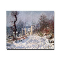 The Road Of Giverny, Winter, 1885 Canvas Art By Claude Mon