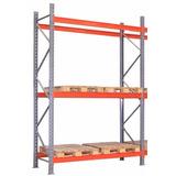Porta Pallet Inicial 3,00m / 2200kg P/ Nível 2,30m (3 Pares)