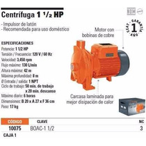 Bomba Centrifuga Domestica 1-1/2 Hp Economica