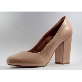 486821e89 Sapato Bico Redondo Fechado Salto Dom amazona Nude
