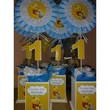 Centros De Mesa Personalizado Winnie Pooh Bebe Primer Añito