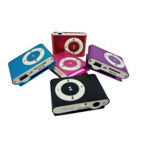 Mini Mp3 Player Fm Shuflle Clip Entrada Micro Sd Suporta 8gb