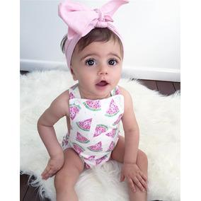 09dc71a739 Ropa Para Bebe Niña Hermosa Moda Pañalero Estampado Sandias