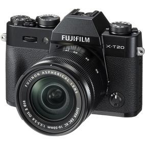 Fujifilm X-t20 Camera Com Lente 16-50mm Preta Fuji 4k Nova!