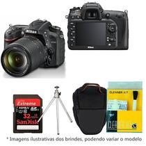 Câmera Nikon D7200 18-140 Bolsa Tripé 32gb C/10 Kit Limpeza