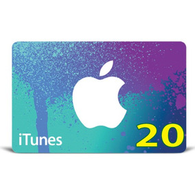 Itunes Gift Card Original Código Valor 20 Usd Usa