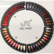 12 Gel Paint Jr 5ml Para Mano Alzada Uñas Lampara Uv 8a-97