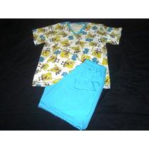Pijama Infatil E Adulto Do Bob Esponja Verão