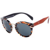 Prada Pr 05ts - Óculos De Sol Van 9k1 Laranja Mesclado E