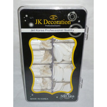 Caja Con 500 Uñas Blanca Jeil Korea Professional
