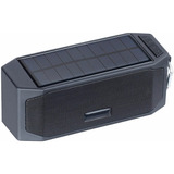 Parlante Con Panel Solar Bluetooth
