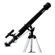Telescópio Luneta 90060mm Lente Barlow Ocular 1.25 E Tripé