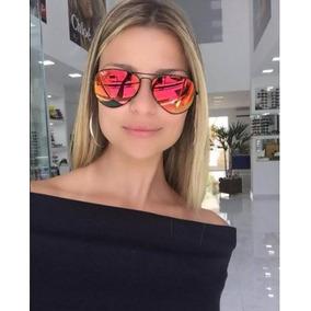 Óculos Rayban Aviador 3025 3026 Espelhado Feminino Masculin Preto ... e5ac5bcb45