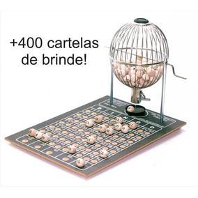 Globo De Bingo Nº3 C/ Bolinhas + 400 Cartelas E Fretegrátis