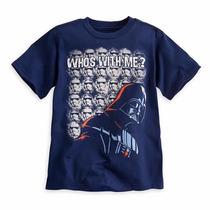 Star Wars Dark Vader Playera Para Niño 5/6 Años Disney Store