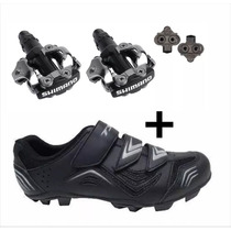Sapatilha Tsw New Fit 3 Velcros Com Pedal Clip Shimano M520