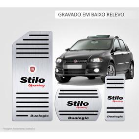 Pedaleira + Descanso Aço Inox Premium Fiat Stilo Dualogic!!!