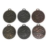 100 Medallas Deportivas Natación 3,5cm