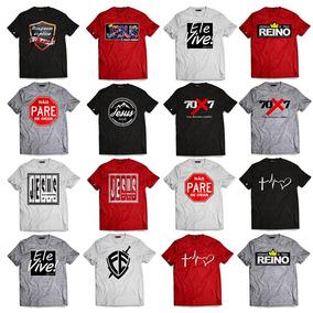 Kit 10 Camisetas Evangélicas Gospel Blusas Manga Curta