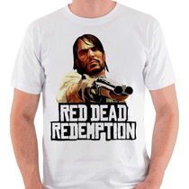 Camiseta Red Dead Redemption John Marston Camisa Blusa Jogo