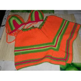 Cachetero Y Top Tejido A Crochet
