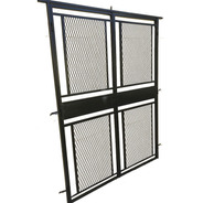 Puerta Reja Abrir Maya Metal Desplegado Para Balcón 150x200