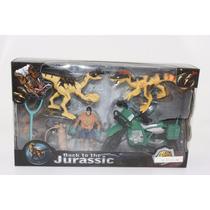 Dinosaurios 3 Figuras Playset 3 Con Accesorios En Caja