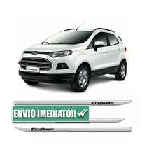 Friso Lateral Slim Cromado Ford Ecosport