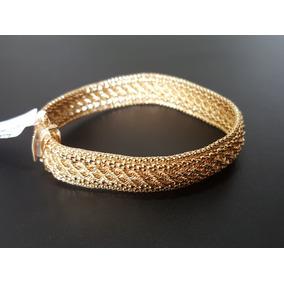Pulseira De Malha Italiana Em Ouro 18k (peça Flexível)