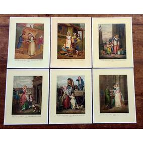 Série Completa De Ilustrações Inglesas Antigos Ofícios