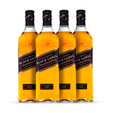 Whisky Black Label 4x 1000ml Johnnie Walker Oficial