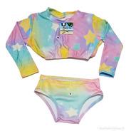 Biquini Infantil Com Proteção Solar Na Blusa Menina Verão