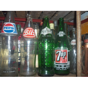 Botellas De Gaseosa Antiguas Bils Pepsi Sprite Etc De 800cc