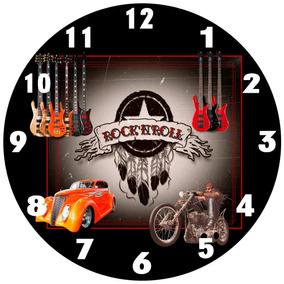 Relógio Parede Carro Moto Guitarra Rock Clássico Vintage