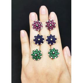 Brincos Feminino Com Pedras Zirconia De Luxo Moda Unidade
