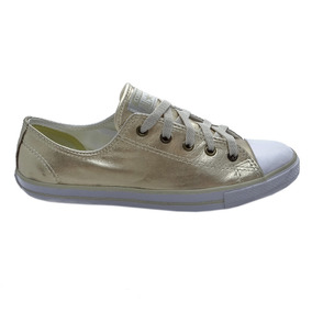 Tênis Converse All Star Ct As Dainty Leather Ox Ouro Ce00340