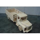 Caminhão De Madeira - Chevrolet 51