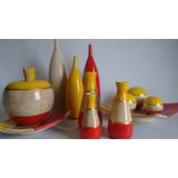 Conjunto Ceramica 4 Peças Decorativa E Vasos Decoração