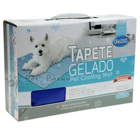 Chalesco Tapete Gelado Pet Cooling Mat Grande 60cmx90cm