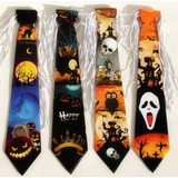10 Gravata Bruxa Halloween Terror Abóbora Pânico Caveira