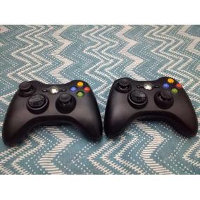 Controles Xbox 360 Originais Da Cor Preta E Bem Conservados.