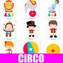 Kit Digital Circo - 724 Arquivos - Circo Scrapbook Palhaço