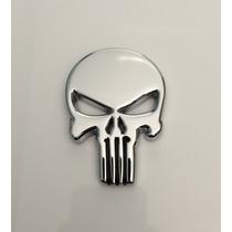 Emblema Justiceiro Metal Cromado Choper Cruiser Custom
