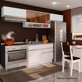 Cozinha Completa Glamy Marina Madesa (sem Tampo) Branco