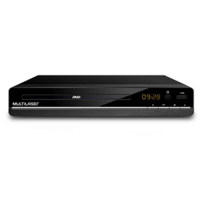 Dvd Player 3 Em 1 Multimídia Usb Multilaser Preto Sp252