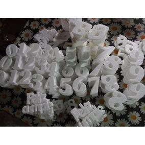 100 Números Telgopor Crudo Para Gibrear 10 Cm / Fabricantes