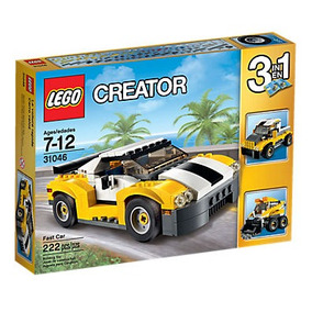 Brinquedo Lego 3 Em 1 Carro Amarelo Escavadeira E Caminhão